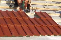монтаж черепицы на крыше