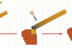 Схема ремонта сгнившего места стропил