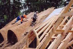 крыша из соломы своими руками