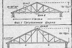 Схема стропильных ферм для угла наклона крыши 22-30 градусов
