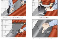 Этапы гидроизоляции верхней части трубы