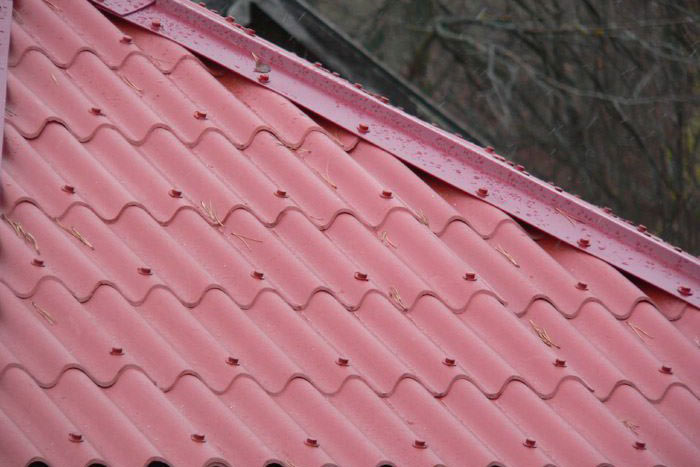 Пример крыши из керамопласта