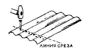 Схема  простукивания для обламывания шифера