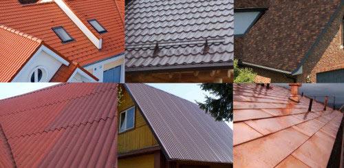 Виды материалов для крыши
