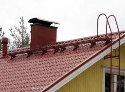 Переходной мостик и лестница для крыши