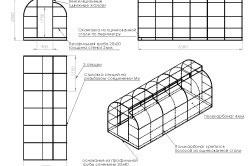Схема установки и сборки теплицы из поликарбоната