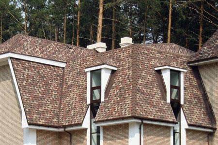 Крыша, покрытая Shinglas