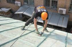 Шлифовка крыши перед покраской