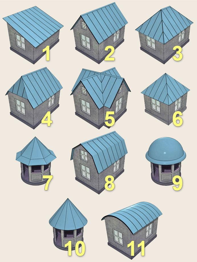 Виды скатных крыш для загородных домов