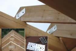 Металлические пластины для соединения стропил