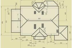 Общий план мансардной крыши
