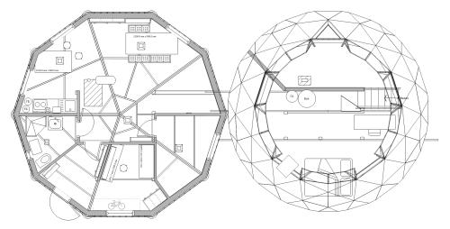 План купольного дома.