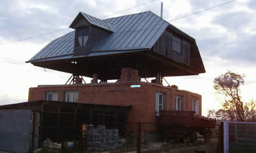 Поднятие крыши дома