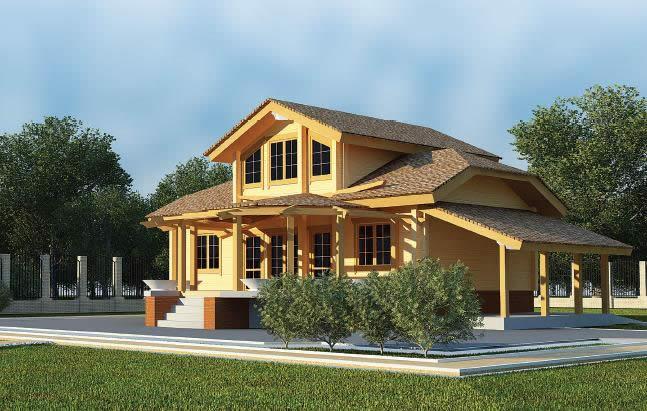 Пример многоскатной крыши