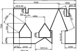 План разбивки крыши на отдельные плоскости правильной формы
