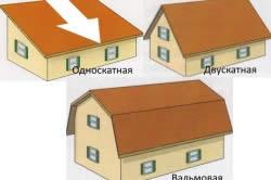 Формы распространенных крыш для загородного дома