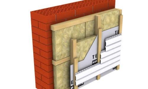 Обшивка стены сайдингом с утеплителем