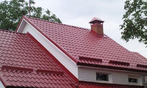 крыша с дымоходом