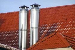 стальные дымоходы на крыше