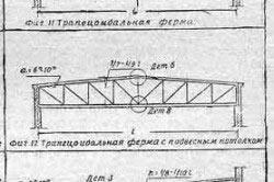 Схема стропильной фермы для угла наклона 6 - 15 градусов