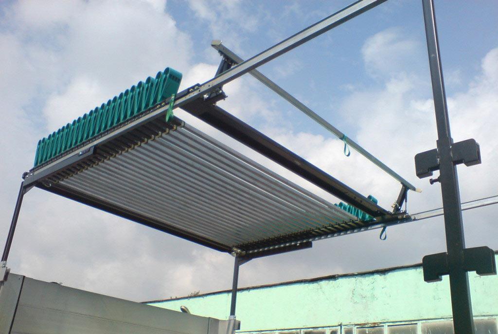 Пример сдвижной крыши