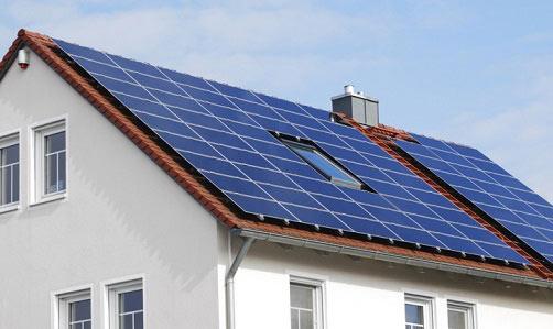 установка солнечных батарей на крыше