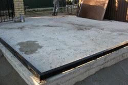 Бетонная площадка под навес