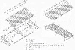 Схема крепления профнастила на кровлю балкона