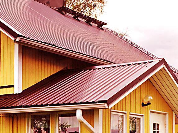 Пример крыши из профнастила