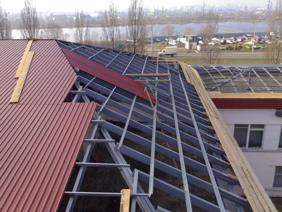 Наклон крыши под профлисты