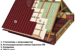 Утепленная крыша из металлочерепицы с двухконтурной вентиляцией
