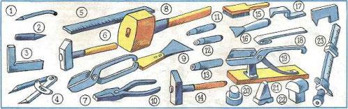 Инструменты для ремонта и монтажа металлической кровли