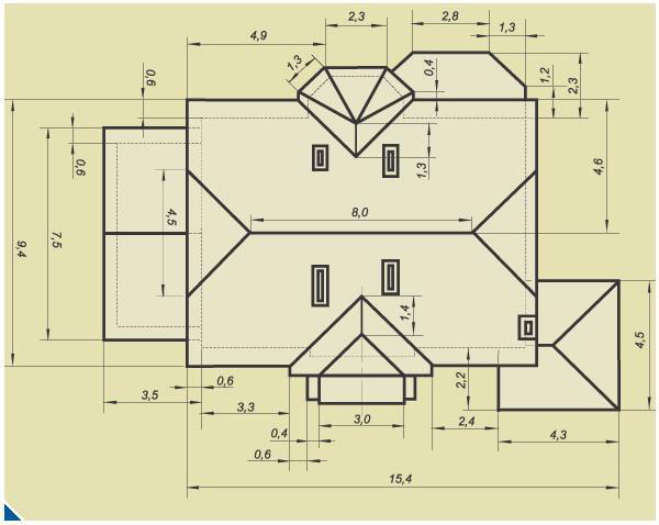 Схема расчета материалов для