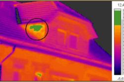 Теплограмма крыши.