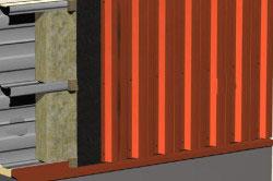 Пример устройства фронтона из профнастила