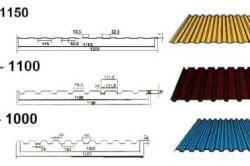 Виды профнастила отличаются по толщине металла и размеру фальцев.