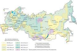 Значения веса снегового покрова в разных районах РФ