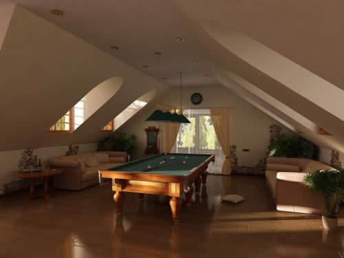 Мансарды - это отличное место, чтобы обустроить дополнительную комнату - спальню, детскую, игровую, библиотеку и т.д.