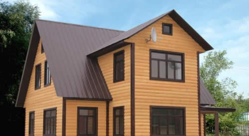 Пример дома с крышей из профнастила