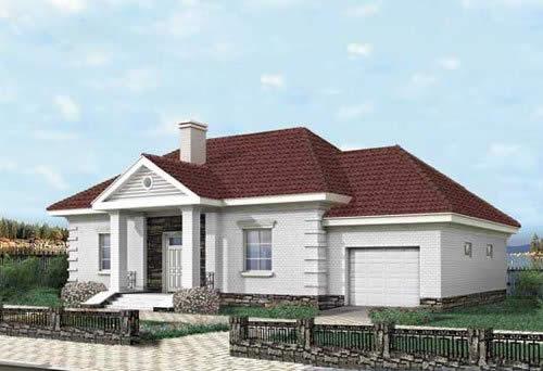 Современная вальмовая крыша дома