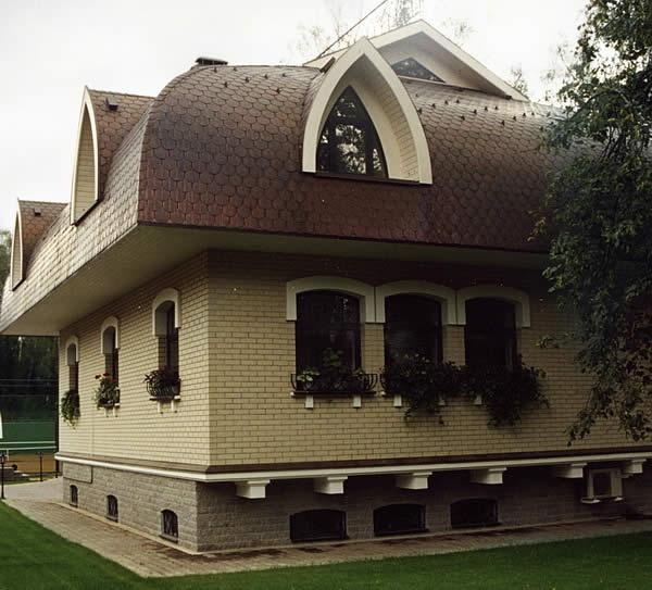 Крыша, покрытая черепицей Тегола