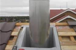 Проход трубы через специальный короб
