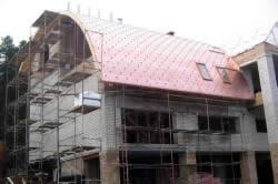 Укладка гибкой черепицы на полукруглую крышу