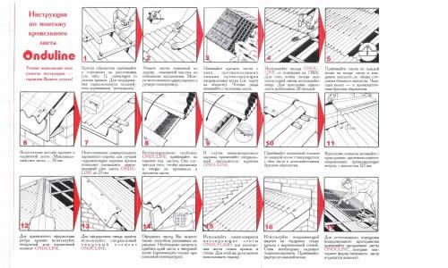 Этапы монтажа ондулина